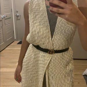 Long beige cardigan